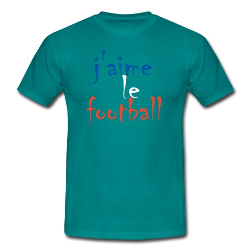 j' aime le football - Männer T-Shirt
