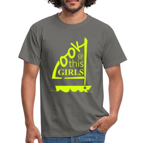 AndriesBik look thisGIRLS shirt witteletters - Mannen T-shirt