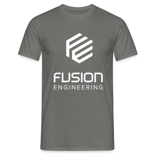 Fusion logo in white - Mannen T-shirt