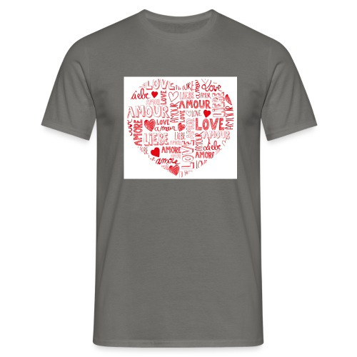 T-shirt texte amour - T-shirt Homme