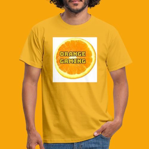 Orange_Logo_White - Men's T-Shirt