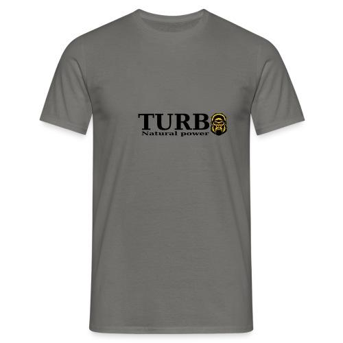 TURBO natural power - Miesten t-paita
