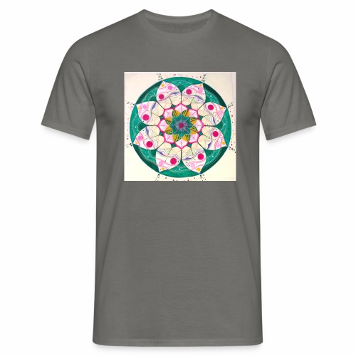 mandala rosa - Camiseta hombre