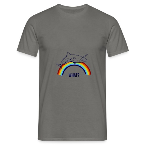 rainbow shark unicorn - T-shirt Homme