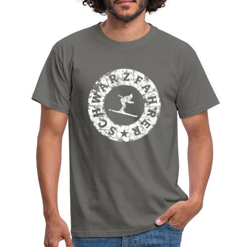 Schwarzfahrer Ski Skifahrer - Männer T-Shirt