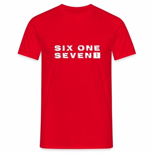 SIX ONE SEVEN 1 PROJECT LOGO FULL 1 WHITE - Men's T-Shirt
