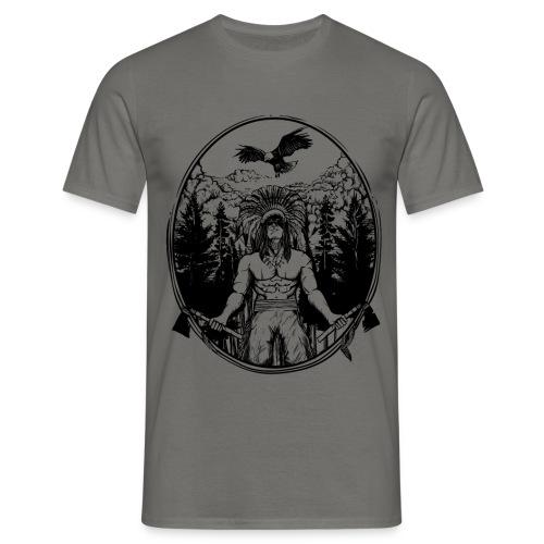 Indianer Krieger - Männer T-Shirt