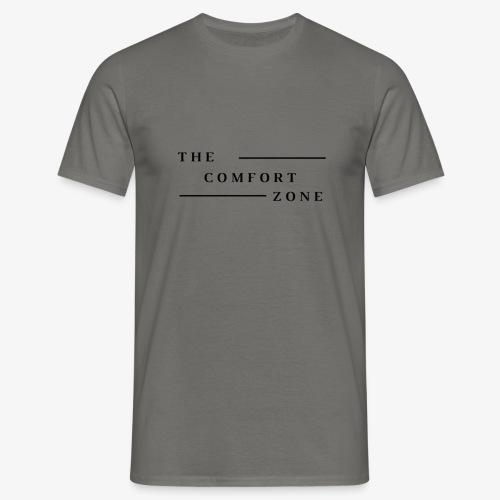Logo zwart The Comfort Zone - Mannen T-shirt