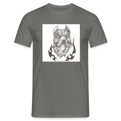 Pitbull Angry face - T-shirt Homme