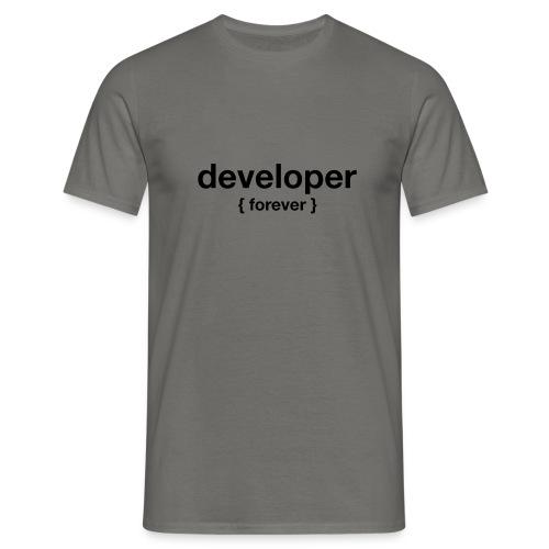 developer forever curly - Männer T-Shirt