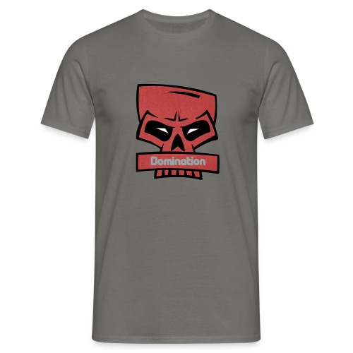 Domination red skull - T-skjorte for menn