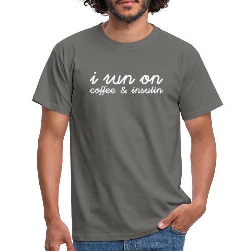 I run on coffee & insulin v4 ETU - Miesten t-paita