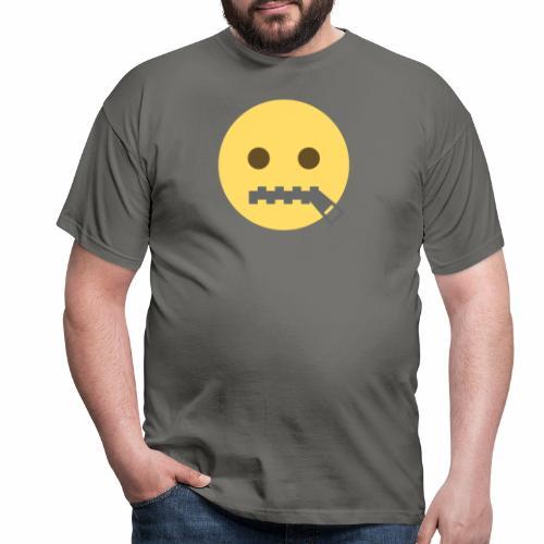 emoji bocca chiusa - Maglietta da uomo