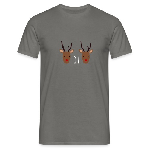 Deer, oh Deer - Mannen T-shirt