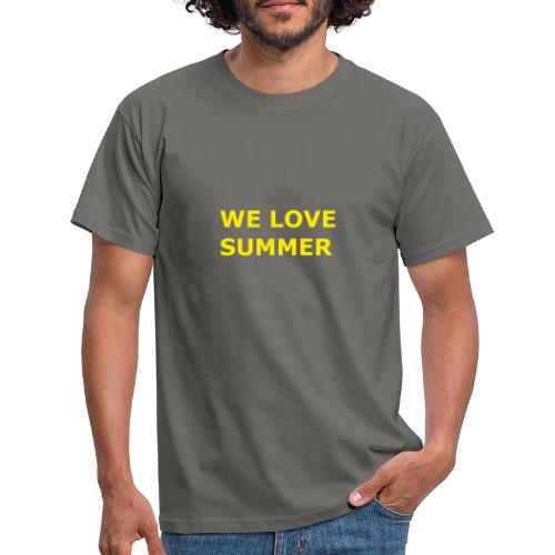 we love summer - Männer T-Shirt