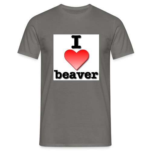 i love beaver - Men's T-Shirt