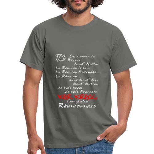 La Réunion Fier D'Être Réunionnais T-Shirt Homme - T-shirt Homme