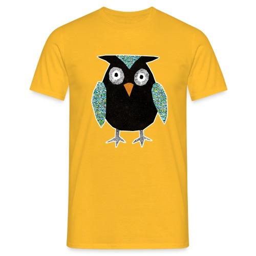 Collage mosaic owl - Men's T-Shirt