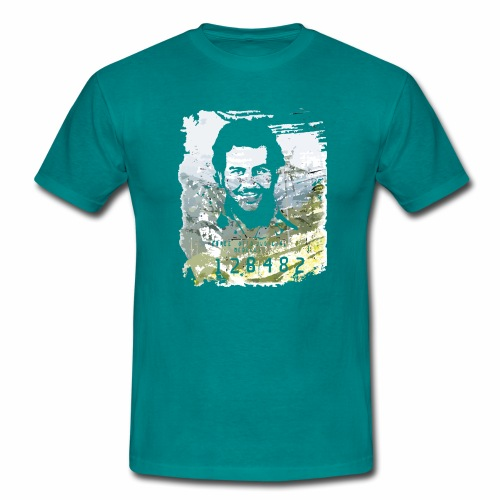 Pablo Escobar distressed - Männer T-Shirt