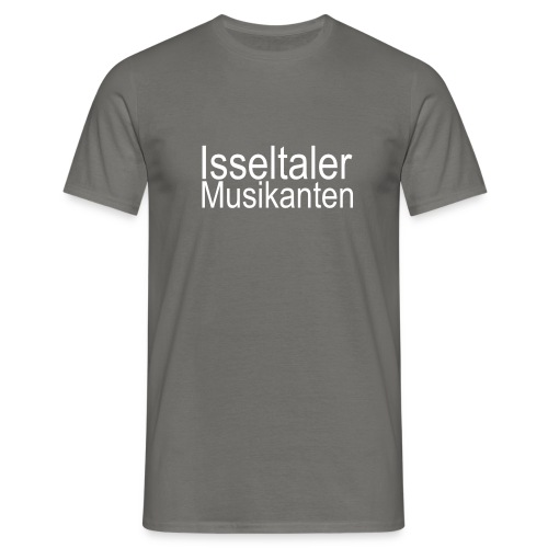 isseltaler logo wit 001 - Mannen T-shirt