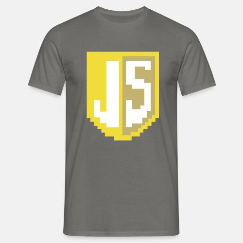 JavaScript Pixelart Logo - Männer T-Shirt