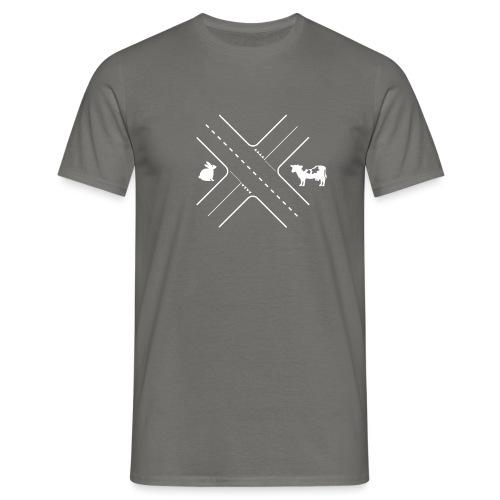 Kruising tussen een konijn en een koe - Mannen T-shirt