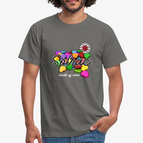 SOLRAC Hearts black - Camiseta hombre