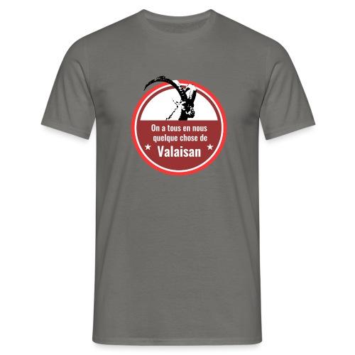 On a tous en nous qqch de Valaisan - Steinbock - Männer T-Shirt