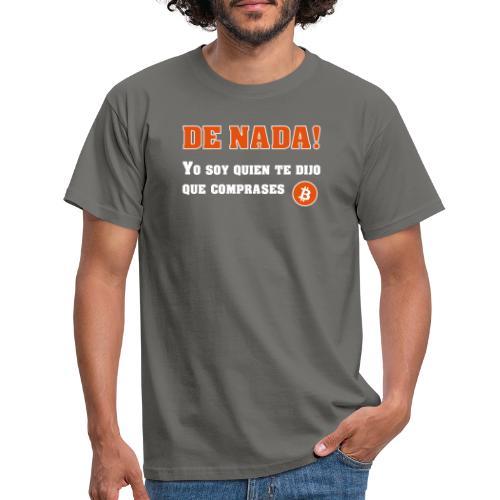 Bitcoin gracias a mí - Camiseta hombre