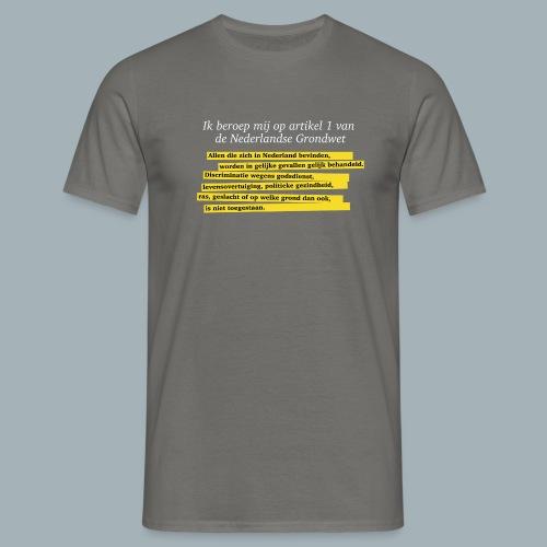 Nederlandse Grondwet T-Shirt - Artikel 1 - Mannen T-shirt