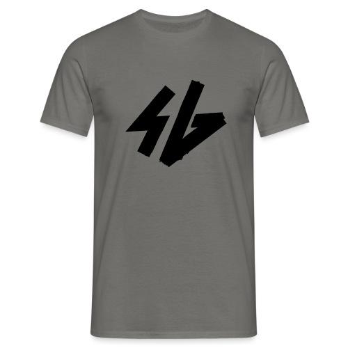 sg logo initals doubble fat - Männer T-Shirt