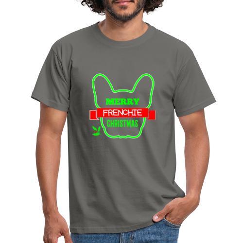 Frenchie Xmas 1 - Männer T-Shirt