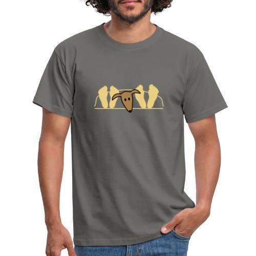 Galgo im Bett - Männer T-Shirt