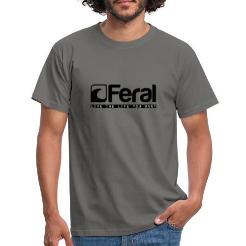 Feral Surf - Live the Life - Black - Men's T-Shirt