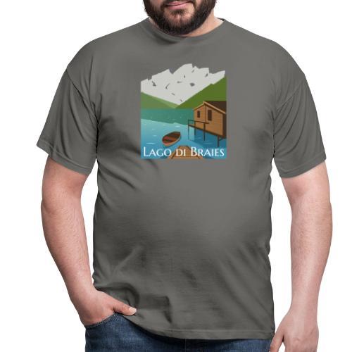 Illustrazione Lago di Braies - Maglietta da uomo