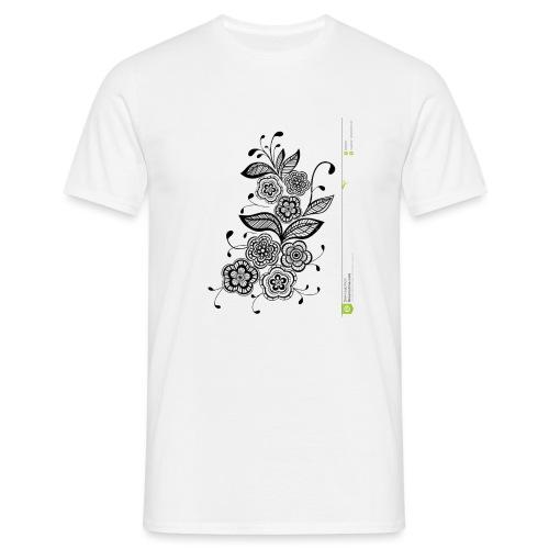 diseño de flores - Camiseta hombre