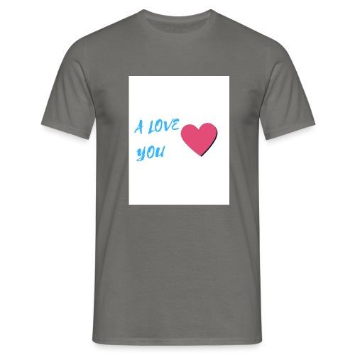 A LOVE YOU BLEU - T-shirt Homme