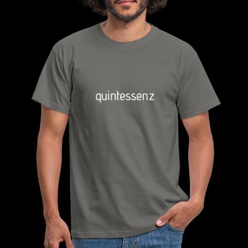 Quintessenz white - Männer T-Shirt