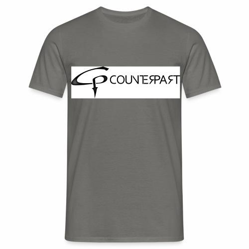 Counterpart Logo b on w - Männer T-Shirt