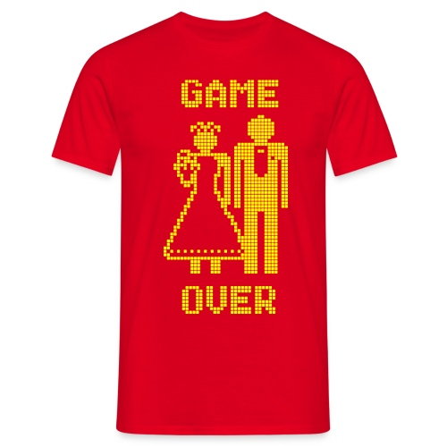 Game Over Old Skool geel - Mannen T-shirt