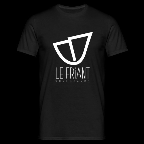 Logo Blanc Le Friant Surfboards - T-shirt Homme