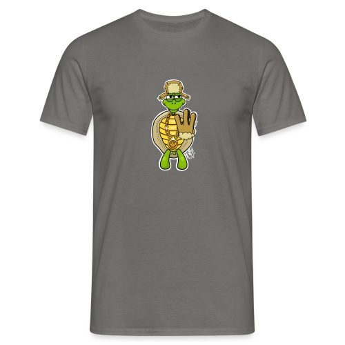 Winter West Coast Schildkröte / Hip-Hop Turtle - Männer T-Shirt