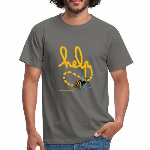 Help abeille texte jaune - T-shirt Homme