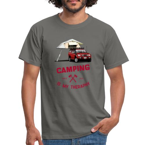 Camping is my Theraphy Dachzelt - Männer T-Shirt