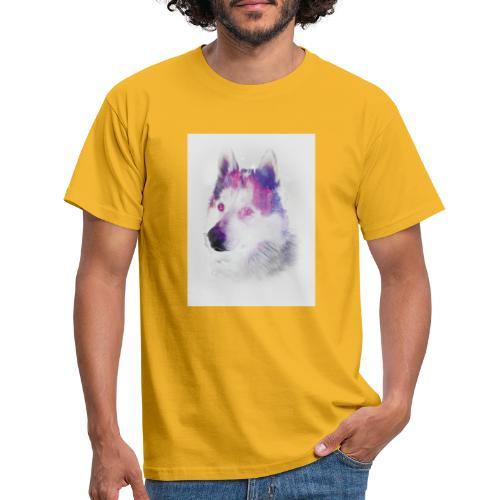 Pies husky - Koszulka męska