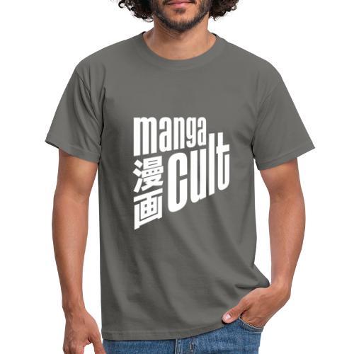 Manga Cult Logo Weiß - Männer T-Shirt