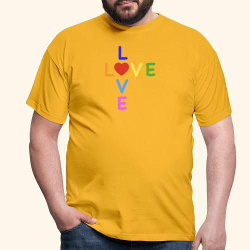 Rainbow Love. Regenbogen Liebe - Männer T-Shirt