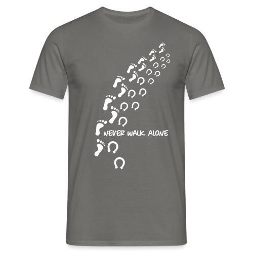 Vorschau: never walk alone horse - Männer T-Shirt