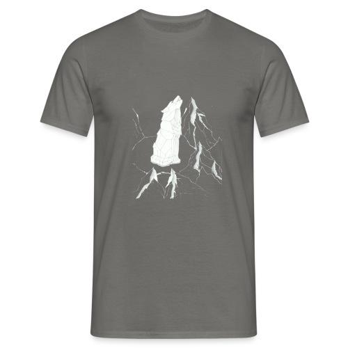 howling geometric wolf - Männer T-Shirt