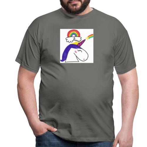 Unicorno arcobaleno - Maglietta da uomo